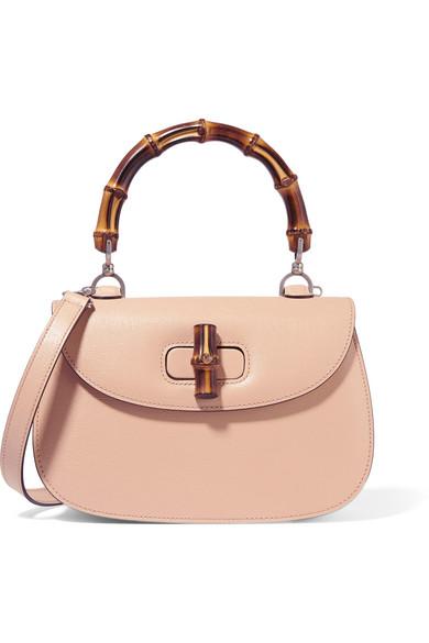 Gucci   Bamboo Classic leather shoulder bag   NET-A-PORTER.COM 5bb082e1962