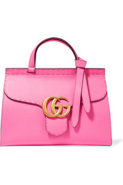 Gucci GG Marmont small textured-leather tote