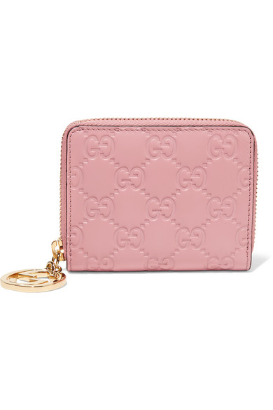 Gucci - Icon Embossed Leather Wallet - Pastel pink