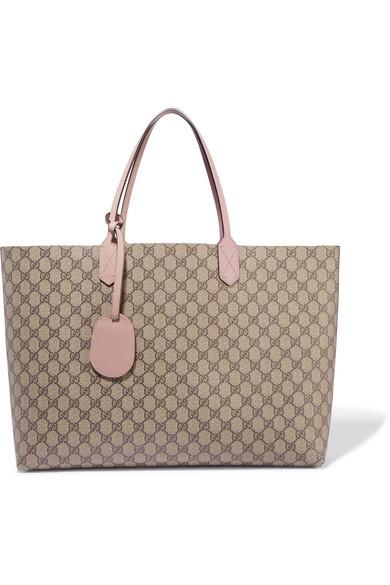 Gucci - Turnaround Medium Reversible Textured-leather Tote - Beige