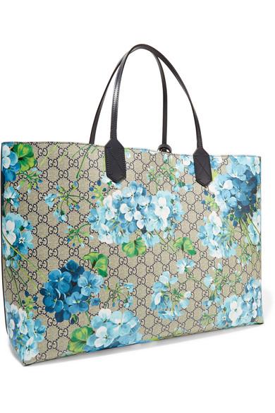 e84edeeac9f4 Gucci   GG Blooms reversible coated canvas tote   NET-A-PORTER.COM
