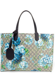GG Blooms reversible coated canvas tote