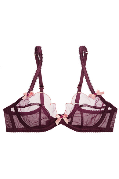 0487c73ef1 Agent Provocateur. Lorna scalloped embroidered tulle underwired bra