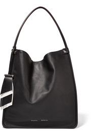 Tasseled medium leather tote