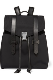 The PS1 leather-trimmed canvas backpack