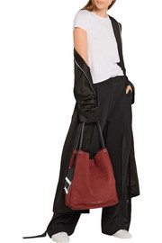 Proenza Schouler Tasseled medium leather-trimmed suede tote