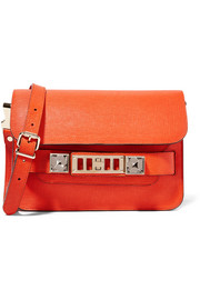 PS11 Linosa mini textured-leather shoulder bag