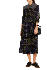 Bottega Veneta Printed silk crepe de chine shirt dress
