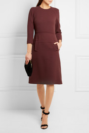 Wool-crepe dress