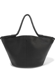 Market large textured-leather tote