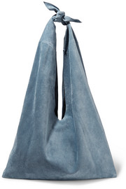 The Row Knot suede shoulder bag