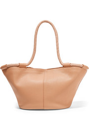 Market small leather tote
