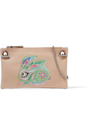 Happy Hour 7 painted leather shoulder bag
