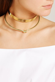 Knot gold-plated choker