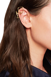 Small Chaos gold-plated ear cuff