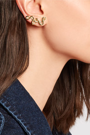 XL Curved Chaos gold-plated earrings