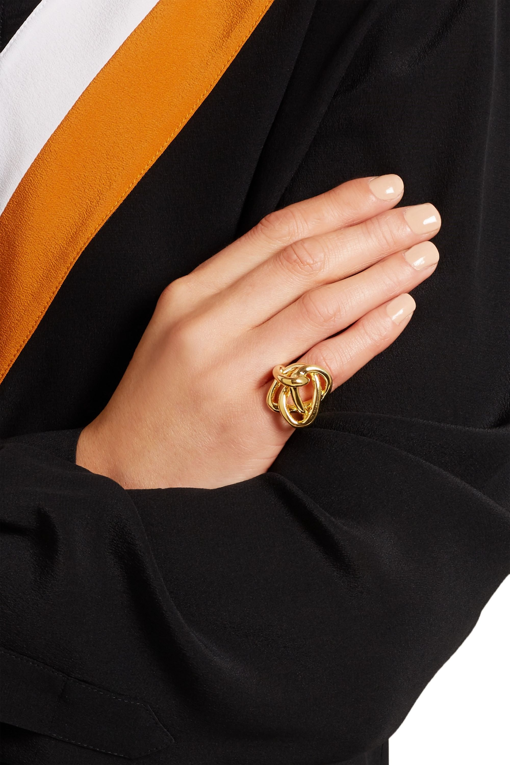 Jennifer Fisher Chaos gold-plated pinky ring