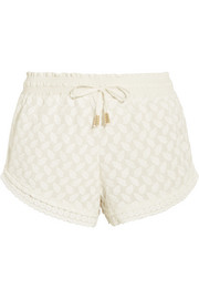 Mykonos embroidered woven shorts