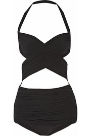 XO Bill Mio cutout halterneck swimsuit