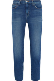 Marcelle cropped low-rise skinny jeans