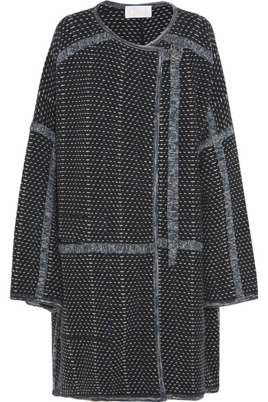 Chloé - Oversized Wool And Cashmere-blend Bouclé Coat - Navy