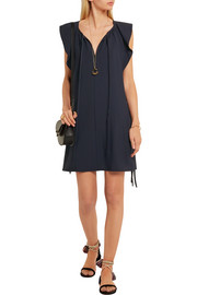 Chloé Flutter-sleeve cady mini dress