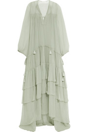 Chloé Tiered silk-mousseline maxi dress
