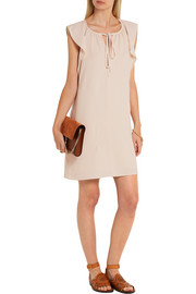 Flutter-sleeve cady mini dress
