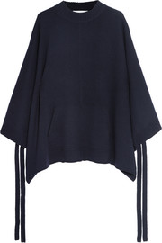 Oversized cashmere cape