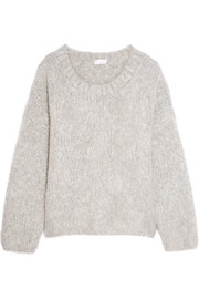 Oversized mohair, wool and cashmere-blend sweater