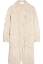 Chloé Chunky-knit mohair, wool and cashmere-blend cardigan