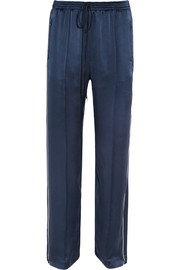 Chloé Silk-satin straight-leg pants