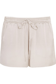 Silk-satin shorts