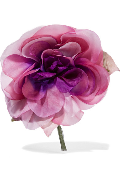 Gucci - Floral Silk Brooch - Pink