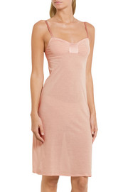 Susie silk-trimmed cotton-crepe chemise