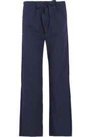 Ally polka-dot cotton-poplin pajama pants