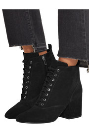 Tate lace-up suede ankle boots
