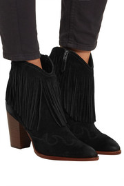 Benjie fringed suede ankle boots