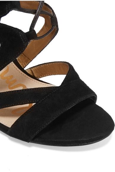 sam edelman yardley sandalen aus veloursleder mit. Black Bedroom Furniture Sets. Home Design Ideas