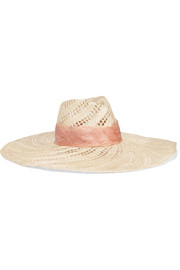 Eugenia Kim Cassidy feather-trimmed woven straw hat