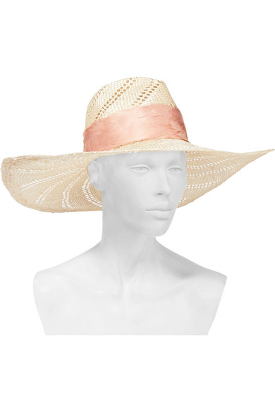 Eugenia Kim. Cassidy feather-trimmed woven straw hat bd7195e0077a