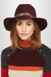 Georgina feather-trimmed wool-felt fedora