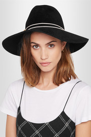 Eugenia Kim Emmanuelle faux leather-trimmed rabbit-felt fedora