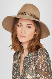 Eugenia Kim Farrah feather-trimmed rabbit-felt fedora