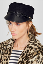 Eugenia Kim Elyse camel hair and leather cap