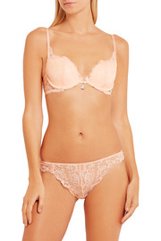 Zest lace and tulle plunge bra