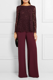 Adam Lippes Pleated lace top