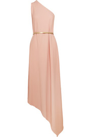 Charlie one-shoulder stretch-crepe gown