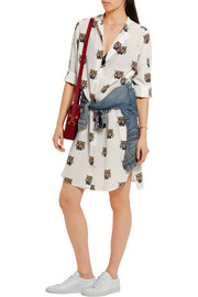 Stella McCartney Bianca printed silk-crepe shirt dress
