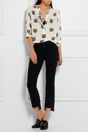 Stella McCartney Eva printed silk-crepe top